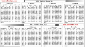 VRO and VRA Written Test Key
