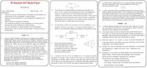 IIT Ramaiah SAT Model Paper - Physics