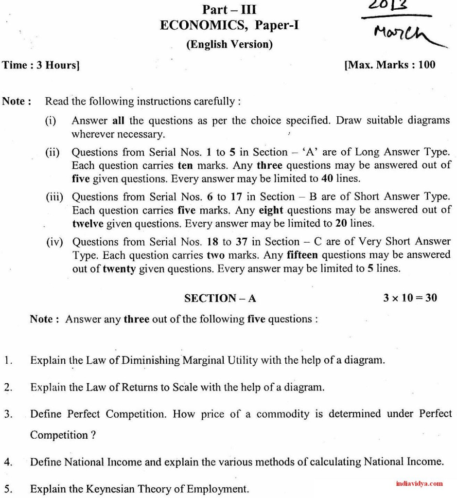 Ipe question papers 2013 page 5 india vidya jr inter economics paper 1 malvernweather Images