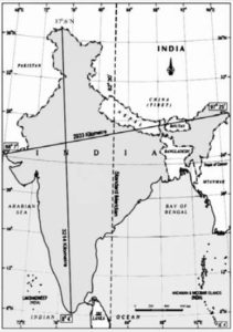 India Map for SSC exams