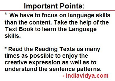 10th Class English Exam Tips - CCE Pattern - Reading
